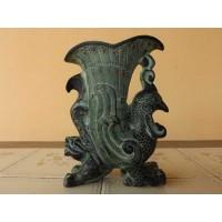Antigo incensário oriental de bronze