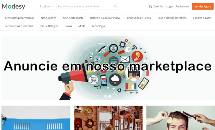 JCS Modesy - Sistema de Classificados com Marketplace