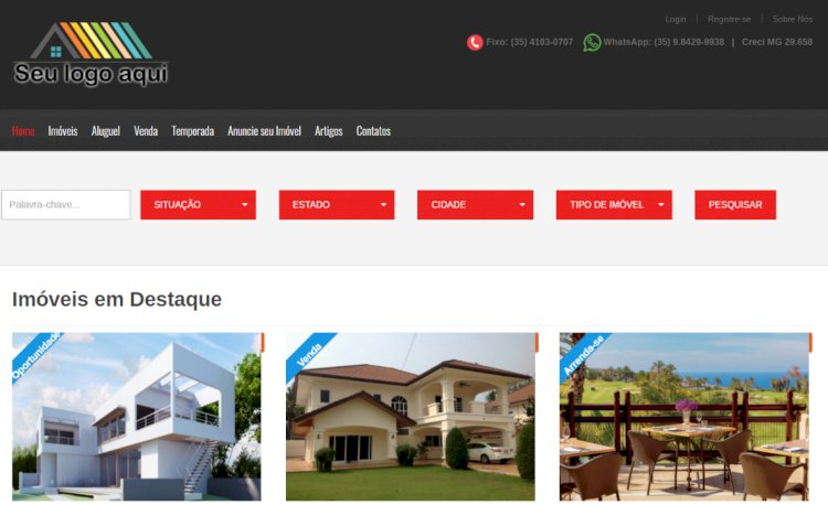 BT Imobiliária Fácil - Site Pronto para Imobiliárias e Corretores de Imóveis