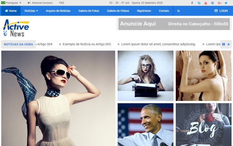 Active News - Sistema para Portal de Notícias ou Revistas Online