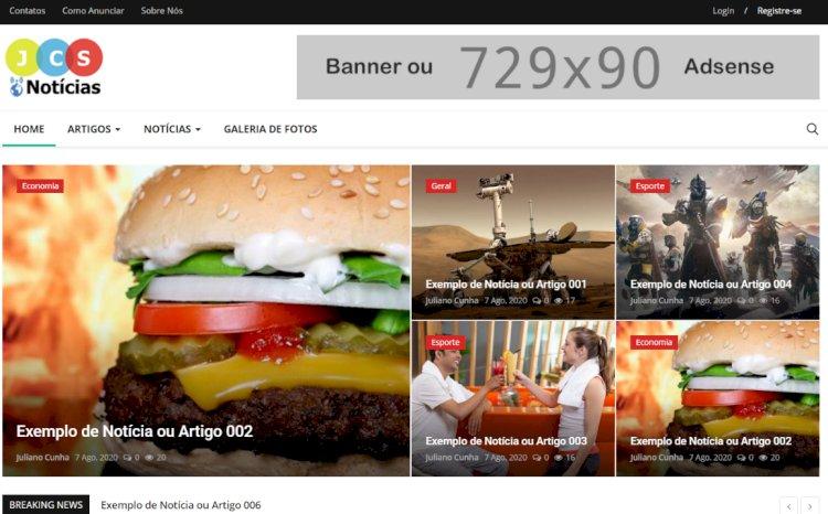 JCS-Notícias - Site Pronto para Portal de Notícias ou Revista