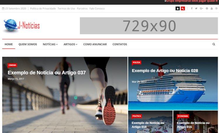 J-Notícias - Sistema Completo para Portal de Notícias