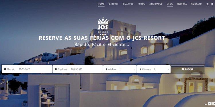 JCS Resort - Site Pronto para Hotel com Sistema de Reservas